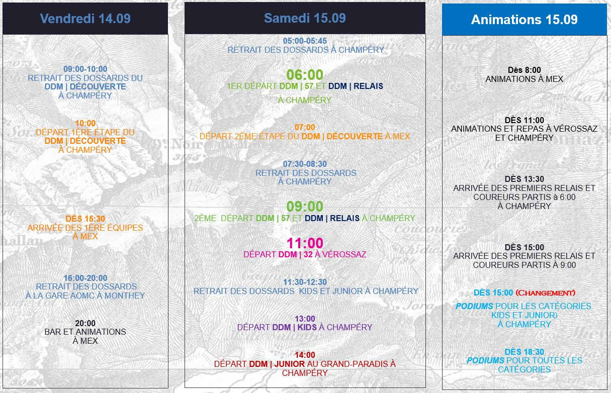 Calendrier du Weekend